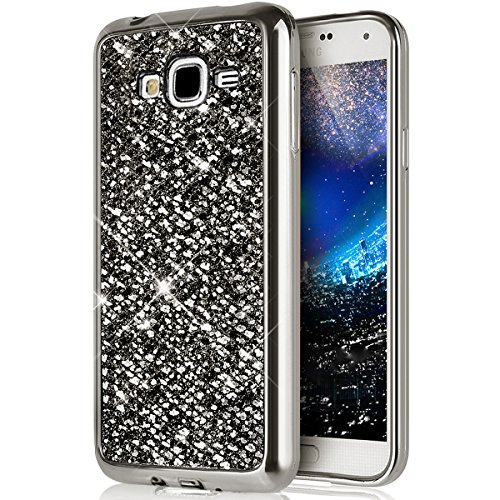 Carcasa Galaxy J1Ace,carcasa galaxy j1Ace,Funda Carcasa Case para Galaxy J1Ace,Cristal de lujo de Bling de scintillio brillante diamante Scintilla Galaxy J1Ace Case Funda Carcasa Brillante scinti
