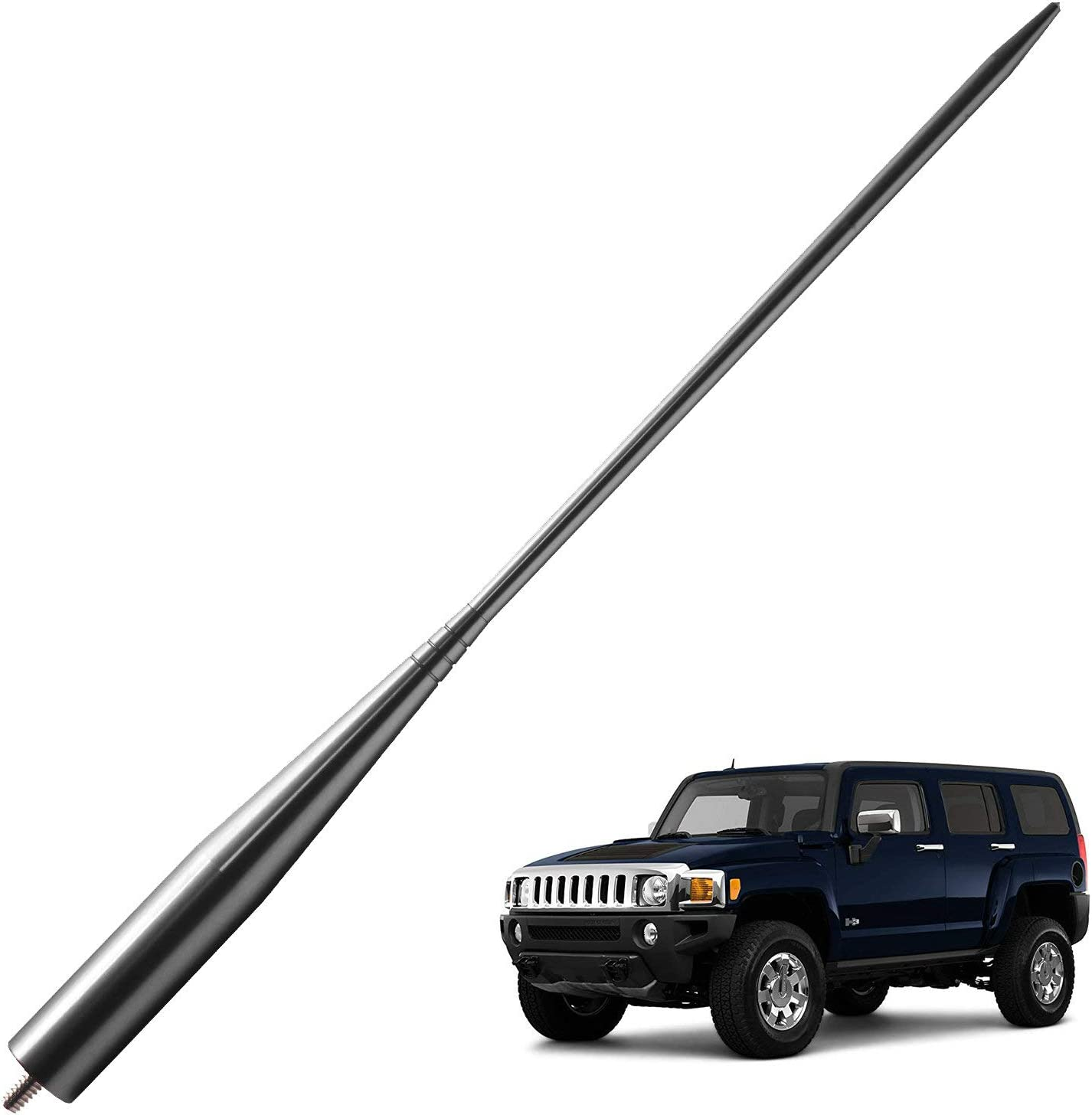 JAPower Rapid rise Replacement Antenna Compatible H3 2006-2010 Hummer Louisville-Jefferson County Mall with