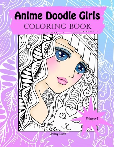 Anime Doodle Girls: Coloring Book