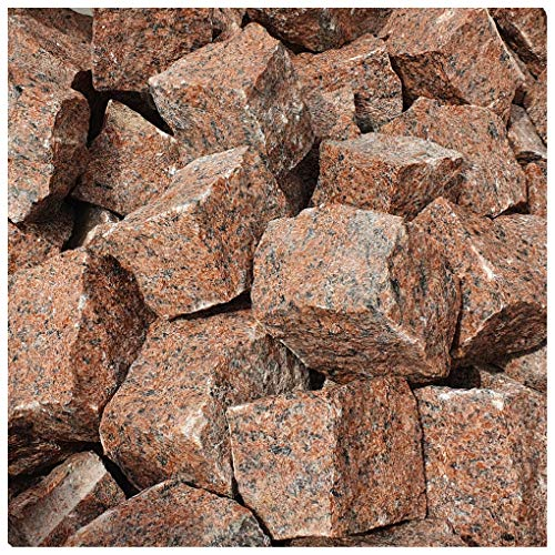 AUPROTEC Granit Pflastersteine 1t Naturstein 9/11 rot DIN EN 1342: 1000 kg