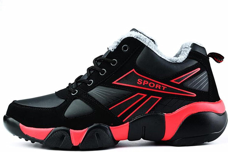 SUN Men's Wild Winter Warm Cotton shoes Leisure Sports Travel Running shoes (color   1, Size   EU39 UK6.5 CN40)