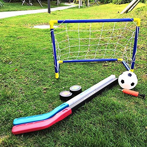 JXH Eishockey Fußball-Ziel-Two in One 60CM Kinder Kunststoff Fußballtor Indoor- und Outdoor Sport Spielzeug