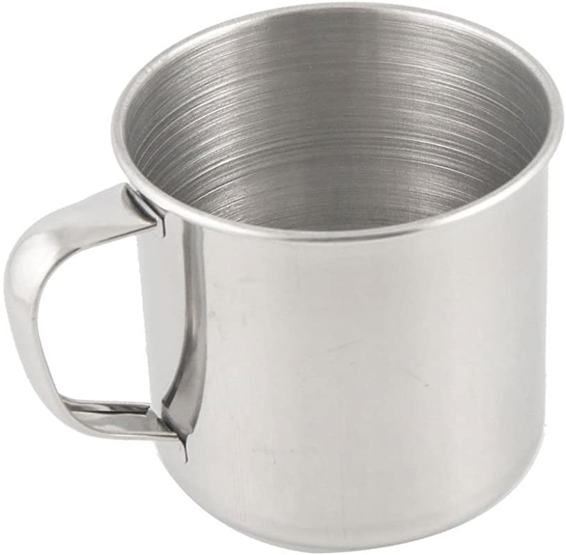 SODIAL R Stainless Steel Coffee Tea Mug Cup Camping Travel 3 5