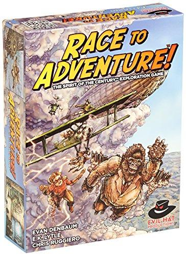 Evil Hat Productions EHP02003 Brettspiel Race to AdventureThe Spirit of The Century Exploration Game