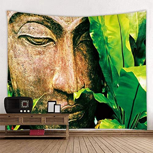 KHKJ Flor de Buda Estatua Planta Tapiz montado en la Pared Mandala Bohemia Viaje Almohadilla para Dormir decoración del hogar Obra de Arte A4 200x150cm