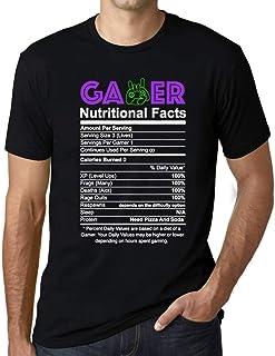 Ultrabasic® Men's Graphic T-Shirt Gamer Nutritional Facts T-Shirt Esports Funny Gift Idea