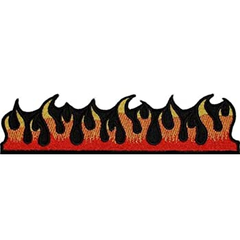 Fuego Llamas bordado hierro//sew on Patch Jeans T SHIRT Hat Cap Bolsa Coat Badge