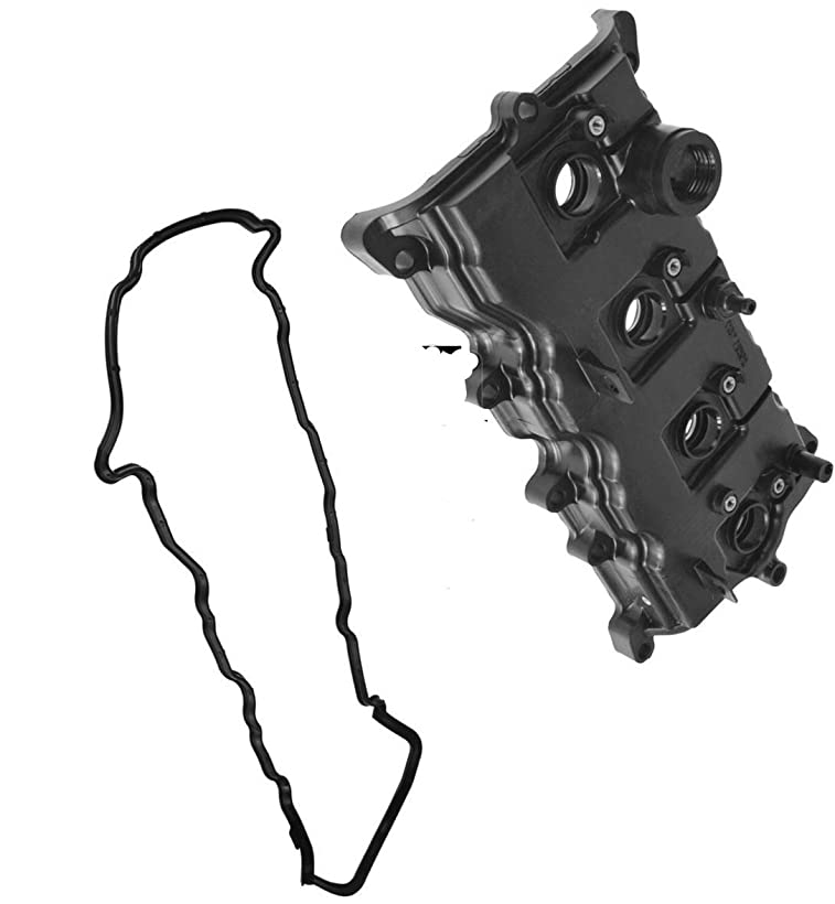 APDTY 140055 Valve Cover Plastic Assembly Fits 2.5L Engine 2007-2013 Nissan Altima 2007-2012 Sentra (Includes Gasket & Spark Plug Tube Seals; Replaces 13264-JA00A, 13270-JA00A) hekd631226294041