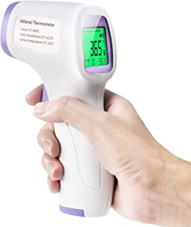 3 Color Screen AXHKIO Non-Contact Forehead Infrared Thermometer for Fever with Memories Function and Instant Readings for Adults/Kids and Baby LCD Display