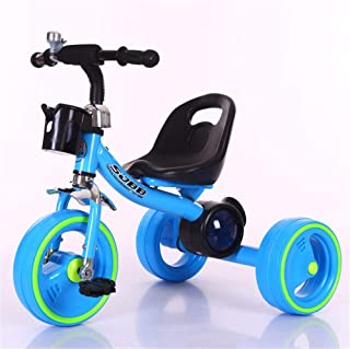 Jeterndy Children's Tricycle Baby Balance Bikes Bike Bicycle Children Walker Tricycle with Push Handle for Steering and Toy Sand Bucket Toddler Stroll and Ride Trike 3 Wheels Toddler Bike Kids Trike