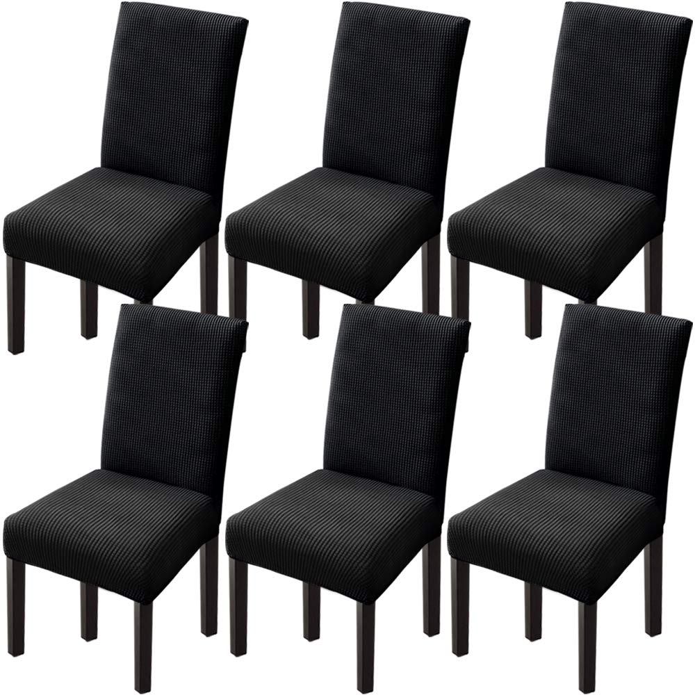 Goodtou Chair Covers For Dining Room Chair Covers Dining Chair Covers Set Of 6 Black Buy Online In Botswana At Botswana Desertcart Com Productid 191002262