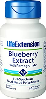 Life Extension - Blueberry Extract with Pomegranate - 60 Vcaps (Pack of 3)