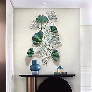 Graceful Metal Art Wandbehang Skulptur Golden Ginkgo Leaf Wohnzimmer Esszimmer Sofa Hintergrundwand Metall Hanging Decor,Gold,109x55cmx1pcs