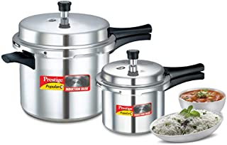 Prestige Popular Plus Double Value Pack 10 L + 3 L Pressure Cooker