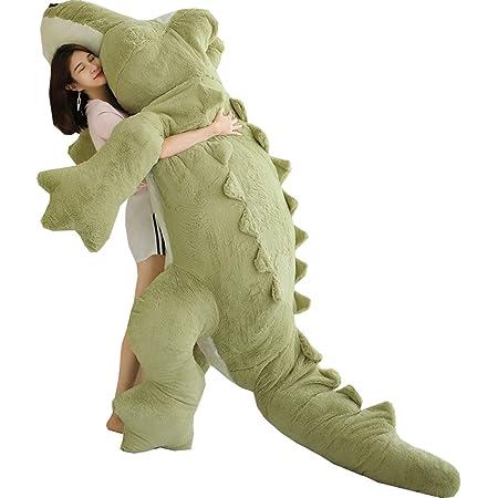 ぬいぐるみ 特大 ワニ/鰐 大きい 可愛い わに 抱き枕/プレゼント/ふわふわぬいぐるみ (グリーン, 160cm)