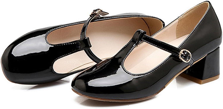 Round Last Work Thin shoes black 39
