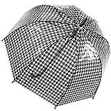 Dr. Neuser Damen Automatik Stockschirm Regenschirm Glockenschirm Schirm Durchsichtig Transparent 608 TPR, Farbe:Modell 2