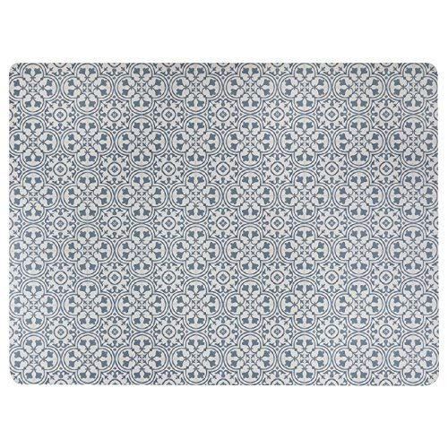 Vinyl Floor Mat, Durable, Soft and Easy to Clean, Ideal for Kitchen Floor, Dining Room or Play Mat. Freestyle, Steel Deco Pattern (6 ft x 8 ft)
