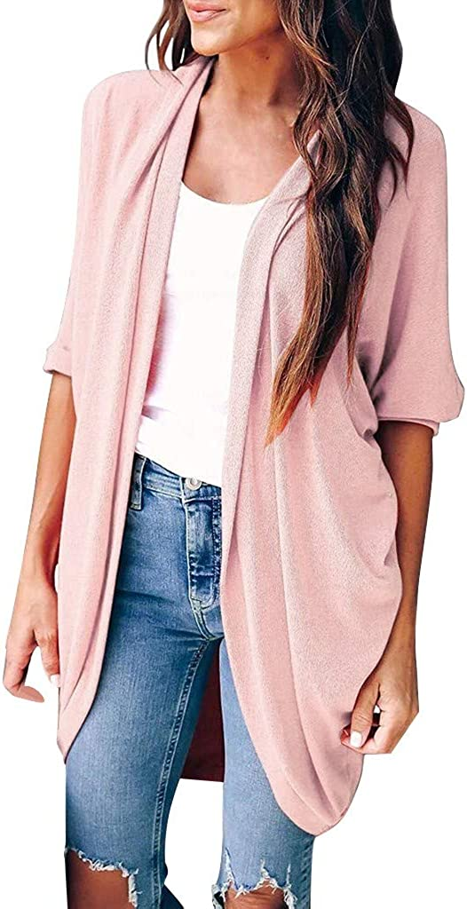 Lutos Womens Cardigans Casual Loose Long 40% OFF Cheap Sale Popular shop is the lowest price challenge Front Sleeve Solid Open