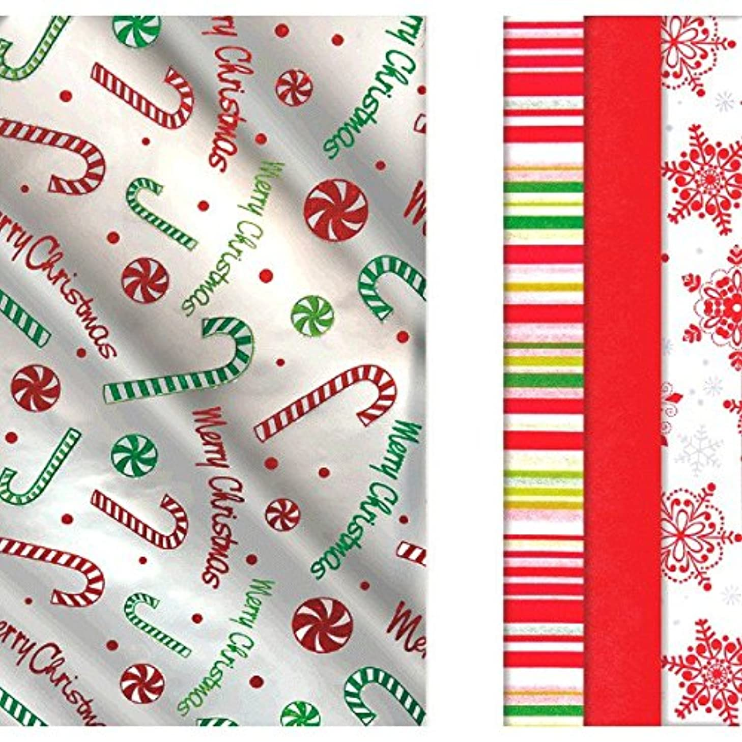 amscan Assorted Christmas Designs Gift Wrappers, 30 Ct. | Party Accessory