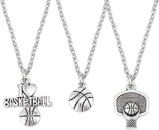 Eg /_ Unisex Freizeit Basketball Form Strass Link Kette Anhänger Halskette Utili
