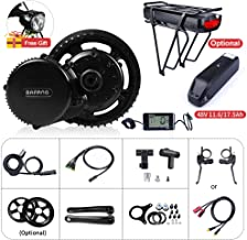 Electric Bike Motor Kit Mid Drive BBS02B 48V 500W Bicycle Conversion Kit Ebike Components Electric Bicycle Motor, Optional 48V 11.6Ah/17.5Ah Battery with Charger