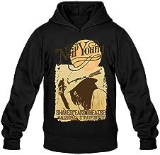 SUNRAIN Men's Customized Neil Young 1971 Tour Poster Hoodies XXL