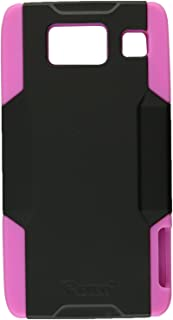 Reiko SLCPC09-MOTXT926BKPK Premium Hybrid Case with Protective Cover and Kickstand for Motorola Droid RAZR HD XT926 - 1 Pack - Retail Packaging - Black/Pink