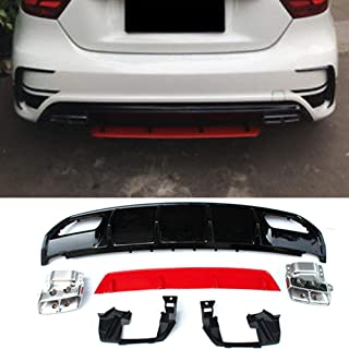 For Mercedes Benz A Class W176 A45 Painted Rear Bumper Diffuser Lip 2013-IN