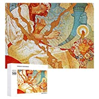 INOV アルフォンス島 ミュシャスラブ 叙事詩 装飾用 ジグソーパズル 木製パズル 500ピース キッズ 学習 認知 玩具 大人 ブレインティー 知育 puzzle (38 x 52 cm)