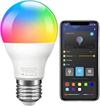 Gove Color Changing Light Bulb, Music Sync RGB LED Light Bulb Dimmable A19 7W 60W Equivalent, Multicolor Decorative No Hub...