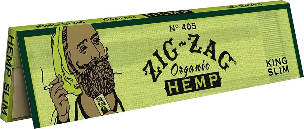 1 Pack Zig Zag King Size Organic Hemp Rolling Paper + Beamer Smoke Sticker