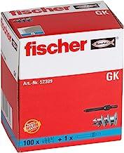 Fischer plug voor gipskarton, GK zonder schroeven, verpakking van 100 stuks.