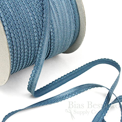 12 Yards of Luna Thin, Sweet Lingerie Elastic, Blue Moon, Made in Italy