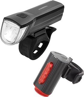 Fischer - Juego de iluminación led con iluminación de Suelo 360° para una Mayor Visibilidad y protección, baterías Recargables Mediante USB