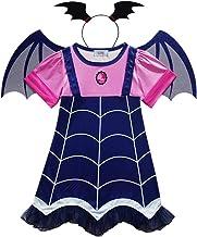 WEIHUIMEI 1 Juego de Vampiro para Disfraces de Halloween, Vampiros, Disfraces de Cosplay, Vestidos de Fiesta para niñas pequeñas
