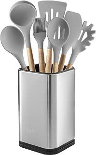 """Stainless Steel Kitchen Utensil Holder, Kitchen Caddy, Utensil Organizer, Modern Rectangular Design, 6.7"""" by 4"""""""