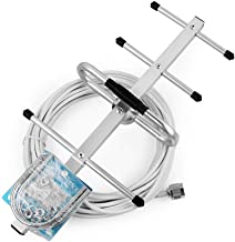 FidgetFidget 698-960MHz Outdoor Directional Yagi Antenna 10M for Cell Phone Signal Booster