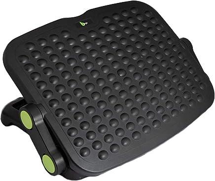 Bergo Footrest L100 - Under Desk Adjustable Ergonomic Footrest - with static Foot Massage