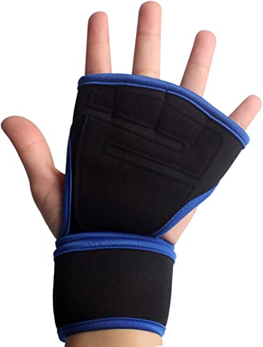 high quality Larcele 1 Pair Strength Training Gloves outlet online sale with wholesale Wrist Support BZST-01 (Blue) (X-Large) online sale