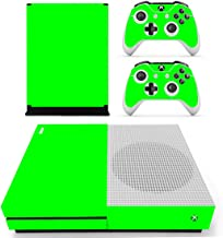 DOTBUY Vinyl Skin Decal Sticker Skin Decal For Xbox One S Console & Wireless Controller All Green