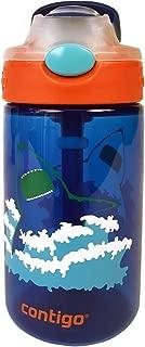 Contigo 康迪克 AUTOSPOUT Straw Gizmo Flip 儿童水壶 14盎司(约397ml)蓝色