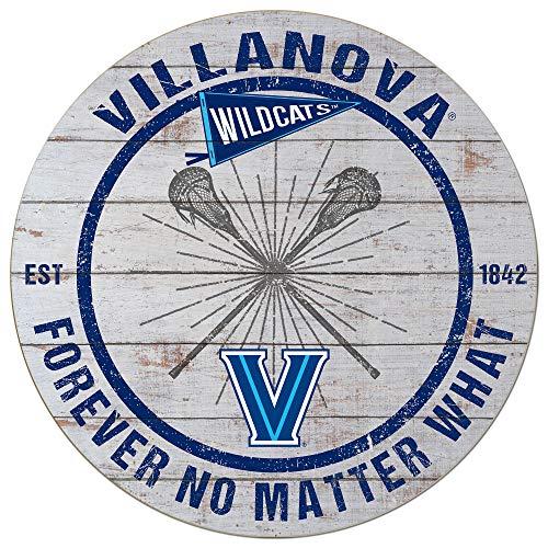 KH Sports Fan 20x20 Weathered Circle - Throwback Villanova Wildcats Lacrosse