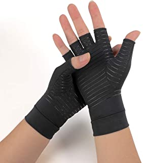 compression gloves for Women&Men for arthritis hands,Compression Gloves for Arthritis Pain Relief for carpal tunnel,Copper Infused Gloves for Rheumatoid Arthritis Hands for Women&Men
