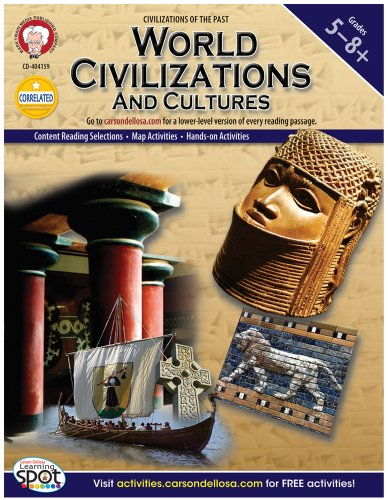 Mark Twain Media | World Civilizations and Cultures Workbook | 5th–8th Grade, 96pgs (World History)