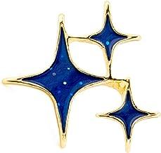 [YUTTALIA(ユッタリア)] キラキラ 星 ピンバッチ スター 輝き ピンズ 光 ブローチ バッジ ピンバッジ 青 ブルー 金 ゴールド