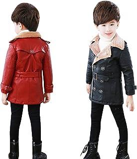 キッズ コート 裏起毛 レザージャケット 男の子 レザーコート 防寒コート 冬 裏ポアジャケット アウターコート 子供服 100cmー140cm