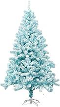 Christmas Décor Artificial Christmas Tree Blue Flocking Christmas Tree Foldable Metal Bracket for Christmas Decoration Hol...