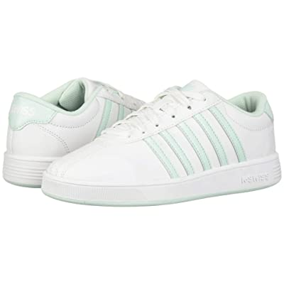 K-Swiss Classic Pro (Big Kid) (White/Soothing Sea) Shoes
