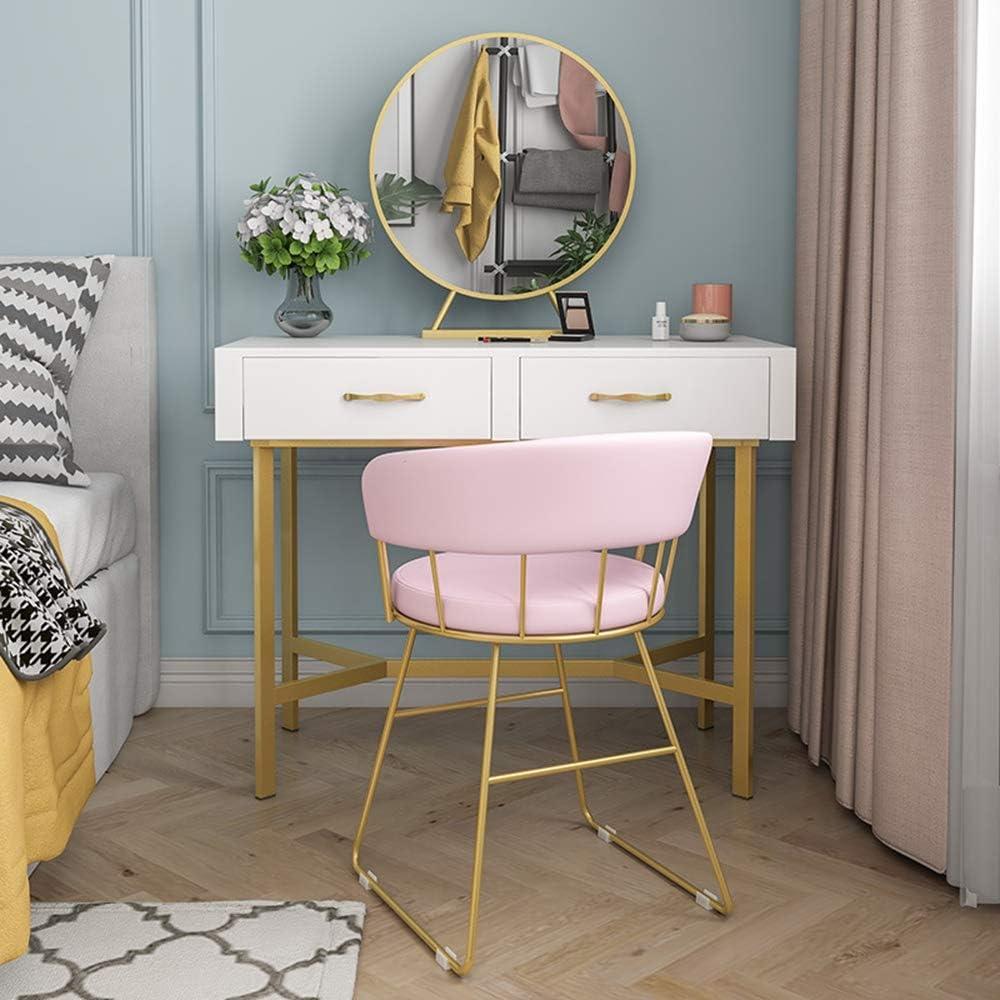 Family History Chaise De Maquillage pour Les Femmes, Minimaliste Moderne Coiffeuse Tabouret Inseat Chaise Nordique Chambre Dossier Chaise, 42 X 45 X 70 Cm,E F